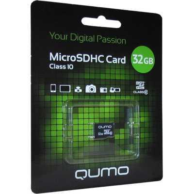 карта памяти Qumo 32GB QM32GMICSDHC10U1NA