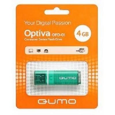 флешка Qumo 4GB QM4GUD-OP1-green