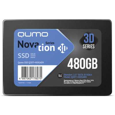 SSD диск Qumo Novation 3D 480Gb Q3DT-480GAEN