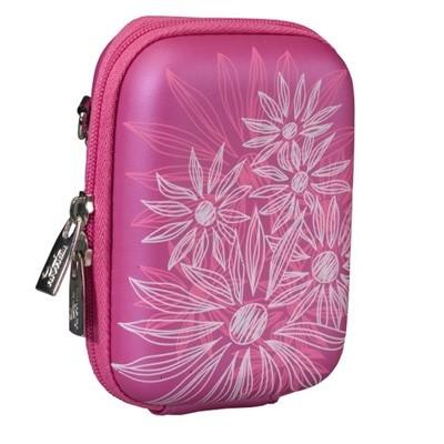 сумка для фотоаппарата Riva 7023 PU Crimson pink flowers
