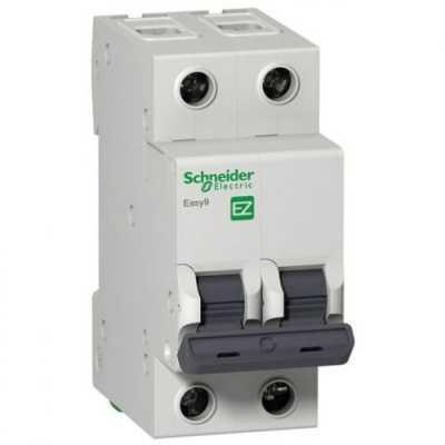автоматический выключатель Schneider Electric Easy 9 2P (C) 4.5kA 10 А EZ9F34210