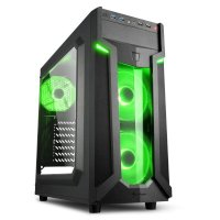 Корпус Sharkoon VG6-W Green