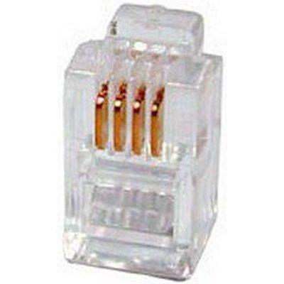 телефонный разъем Hyperline PLUG-4P4C-P-C2