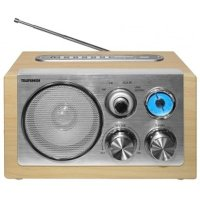 Радиочасы Telefunken TF-1638U Light Wood