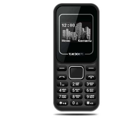 мобильный телефон Texet TM-120 Black/Red