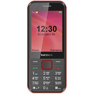 мобильный телефон Texet TM-302 Black/Red