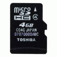 Карта памяти Toshiba 4GB Class 4 SD-C04GJ BL5