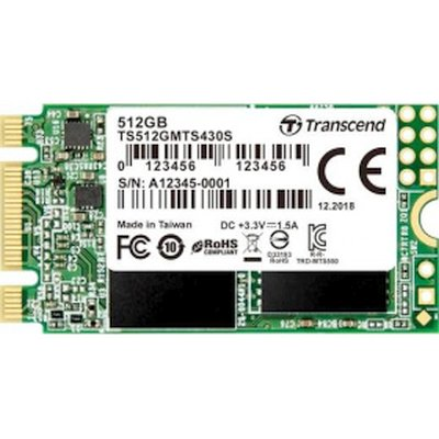 SSD диск Transcend MTS430 512Gb TS512GMTS430S