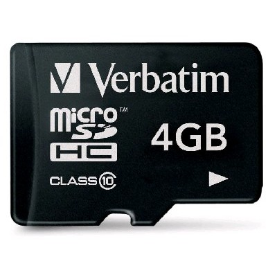 карта памяти Verbatim 4GB 043960-61